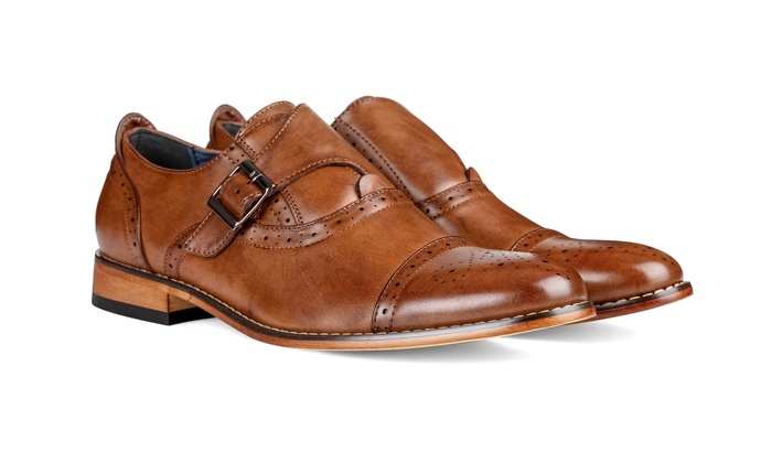 single men in brogue Tan coloured formal shoes for men by hush puppiesthe upper of these formal  shoes is made from synthetic, while the sole is made from thermoplastic rubber.