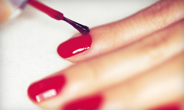 10th Avenue Hair Designs with Julie Spurlock - Southeast Pensacola: One or Three Shellac Manicures with Paraffin-Wax Treatments at 10th Avenue Hair Designs (Up to 59% Off)