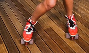 Dreamland Skate Center and Skater's Choice: Roller-Skating with Pizza for Two or Four at Dreamland Skate Center and Skater's Choice (Up to 65% Off)