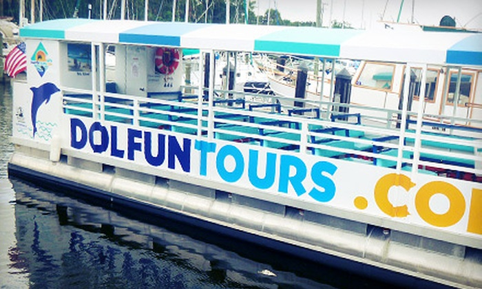 DolFun Tours - Sundance Marina: Three-Hour Boat Tour and Island Swim for One or Two from DolFun Tours (Up to 57% Off)