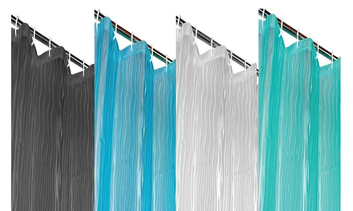 Dainty Home Milan Anti Mildew 3D Shower Curtain