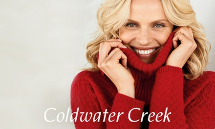 "$25 for $50 Worth of Women""s Apparel and Accessories at Coldwater Creek"