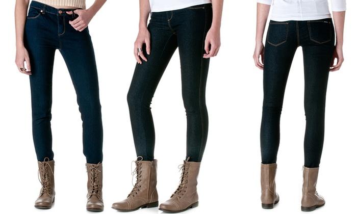 Blue skinny jeans for juniors