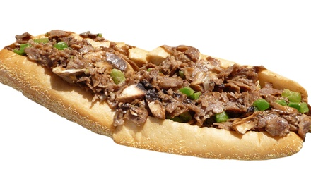 $10 for Two Groupons, Each Good for $10 Worth of Sandwiches at South Philly Cheese Steaks ($20 Total Value)