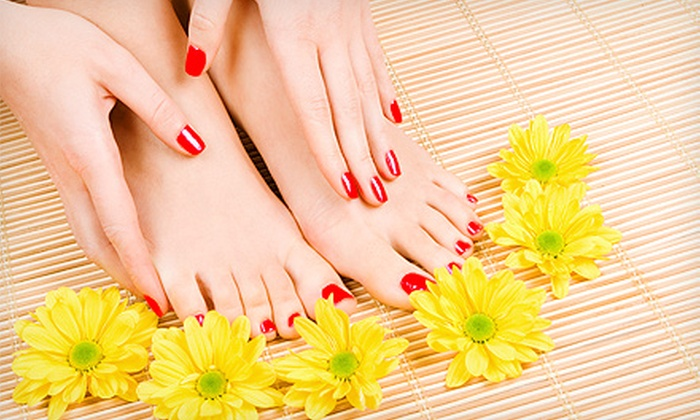 New Star Pink Nail - Dix Hills: One or Two Spa Pedicures, Color Gel Manicures, and 10-Minute Massages at New Star Pink Nail (Up to 60% Off)