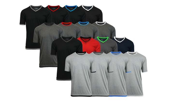 Galaxy By Harvic Men's Double Layer Tees (4-Pack)