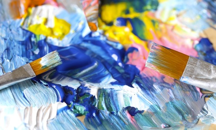 Three-Session Intro to Oil Canvas Course for One or Two at Vintages Art Studio (Up to 50% Off)