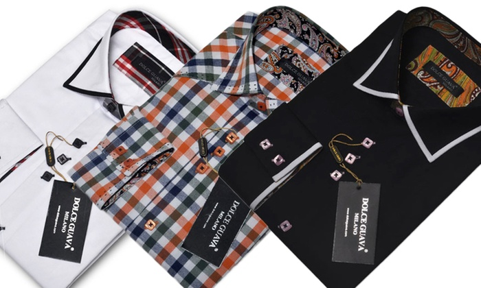 Dolce Guava Men's Dress Shirts: Dolce Guava Men's Dress Shirts. Multiple Styles Available. Free Returns.