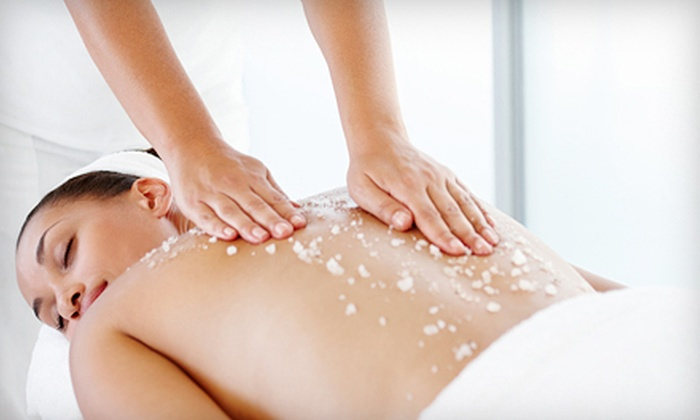 Pur Oasis Spa - Encinitas: One or Two 60-Minute Tropical Sugar Scrubs with Massage and Champagne from Pur Oasis Spa in Encinitas (Up to 66% Off)