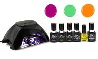 UV-Nails LED Lamp and Gel Nail Polish Set - Multiple Color