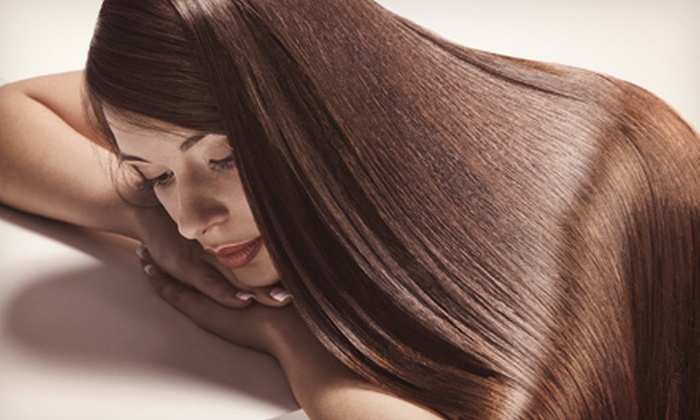 Mark Harmon at Salon Kendall - Conroe: $45 for a Haircut, Style, and Keratin Express Treatment from Mark Harmon at Salon Kendall ($90 Value)