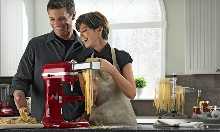 KitchenAid Stand Mixer and Pasta Set: $449 for KitchenAid Stand Mixer and Pasta Set ($819.98 List Price). Five Colors Available. Free Shipping and Returns.