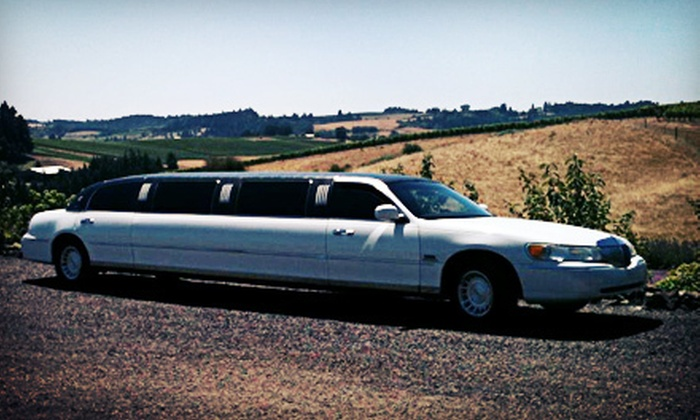 Sea Breeze Limousine - Salem OR: Limousine Winery Tour with Appetizers and Wine Tastings for One or Eight from Sea Breeze Limousine (Up to 58% Off)