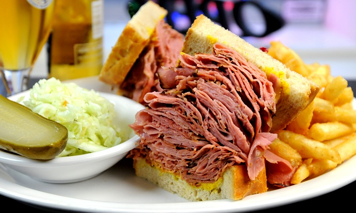 Corned Beef House - Multiple Locations: C$15 for Sandwich Platters for Two at Corned Beef House (C$30 Value)