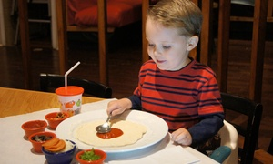 PizzaDoodle: Play-Group or Birthday Package or a Family Dinner for Two Adults and Two Kids at PizzaDoodle (Up to 41% Off)