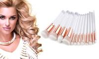 Makeup Brush Set with Transparent Handles (12-Piece)