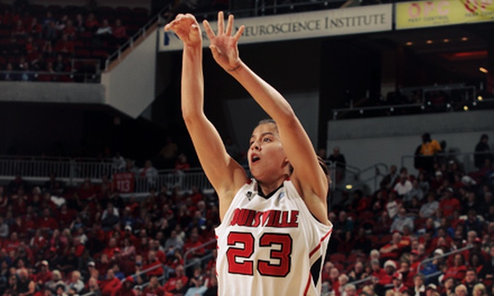 University of Louisville Women's Basketball - Central Business District: Louisville Cardinals Women's Basketball Game for Four at KFC Yum! Center on December 2 at 6 p.m. (Up to $41 Value)