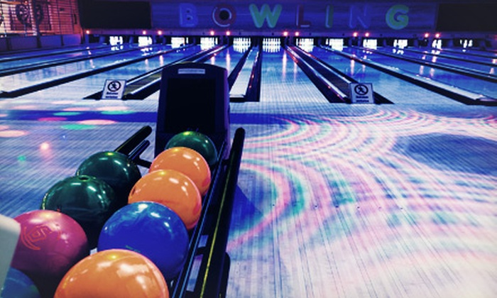 Spin Alley Bowling Center - Shoreline: Two Hours of Cosmic Bowling with Pizza and Beer for Two or Four at Spin Alley Bowling Center (Up to 57% Off)