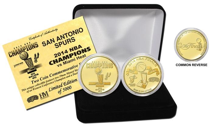 2014 NBA Champions San Antonio Spurs Bronze Minted Coin Set: 2014 NBA Champions San Antonio Spurs Bronze Minted Coin Set