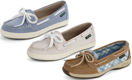 Eastland Women's Boat Shoes. Multiple Styles Available from $27.99–$29.99.