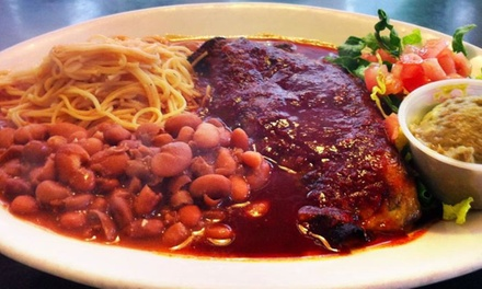 Mexican Cuisine at Auténtica Mexican Restaurant (Up to 47% Off). Three Options Available.