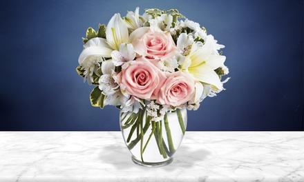 Modern Elegance Bouquet with Vase from Blooms Today (50% Off)