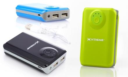 Xtreme 5,200mAh Dual-Port USB Power Bank with LED Flashlight