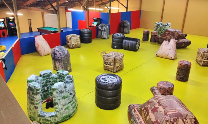 ... Maze is a great looking laser tag arena, complete with black & strobe  lights for a realistic laser tag experience. Your choice of 10 Nerf laser  tag guns ...