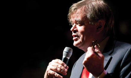 Garrison Keillor at The Santander Performing Arts Center on April 9 at 7:30 p.m. (Up to 41% Off)