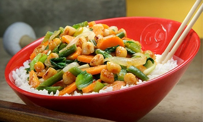 Genghis Grill - Northwest Side: $10 for Mongolian Stir-Fry Bowls for Two at Genghis Grill (Up to $19.98 Value)