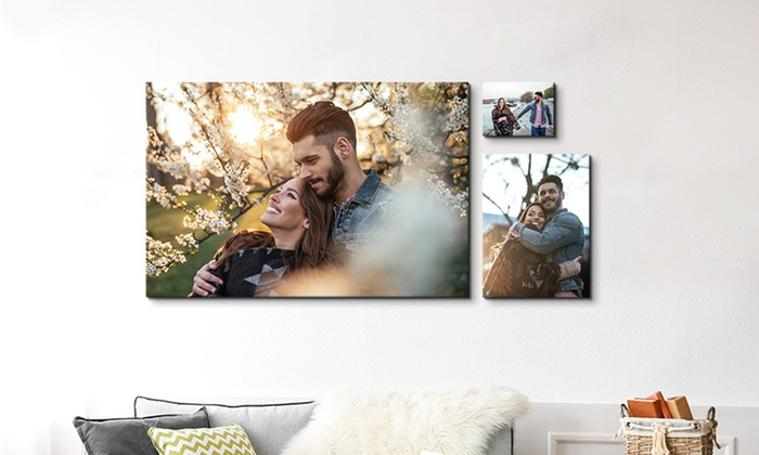 One, Two, Three, or Four Small or XXXL Custom Canvas Prints (Up to 84% Off)
