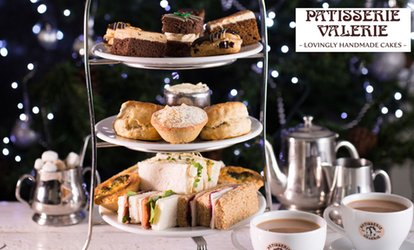 image for Traditional or Festive Afternoon Tea with Optional Prosecco for Two at Patisserie Valerie, Nationwide (Up to 24% Off)