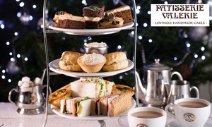 Patisserie Valerie: Traditional or Festive Afternoon Tea with Optional Prosecco for Two at Patisserie Valerie, Nationwide (Up to 24% Off)