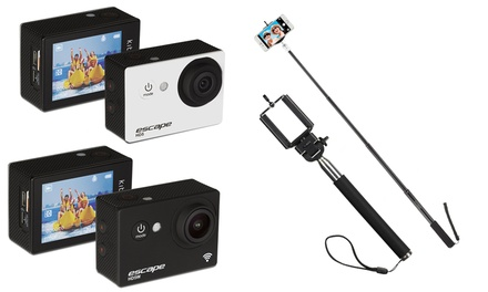 Kitvision Escape HD Waterproof Action Camera from £16.99, with Optional Selfie Stick from £22.99