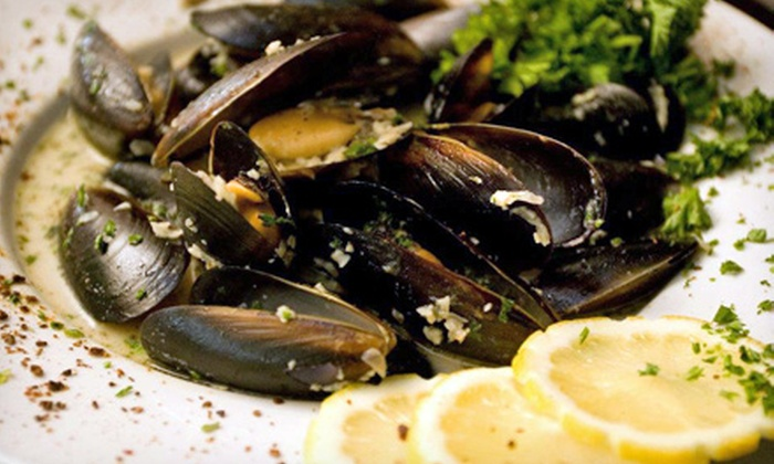 Caspian Cafe - Jefferson Park: Seafood and Mediterranean Cuisine for Two or Four at Caspian Cafe (Up to 56% Off)