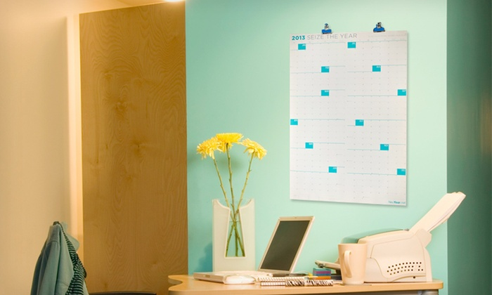 "2013 Full-Year Wall Calendar: $11 for a 27""x39"" NeuYear Dry-Erase or Uncoated Full-Year 2013 Wall Calendar ($30 List Price). Free Returns."