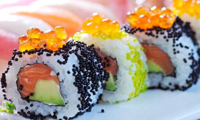 Kong Sing - Johannesburg: Dim Sum and Sushi Buffet with a Glass of Wine and Chilled Sake for Two People at Kong Sing