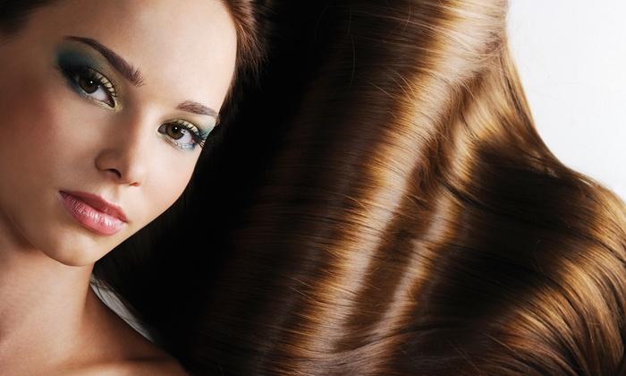 Déjà Vu European Spa & Salon - North Richland Hills: Haircut with a Keratin Treatment or a Brazilian Blowout at Déjà Vu European Spa & Salon (Up to 79% Off)