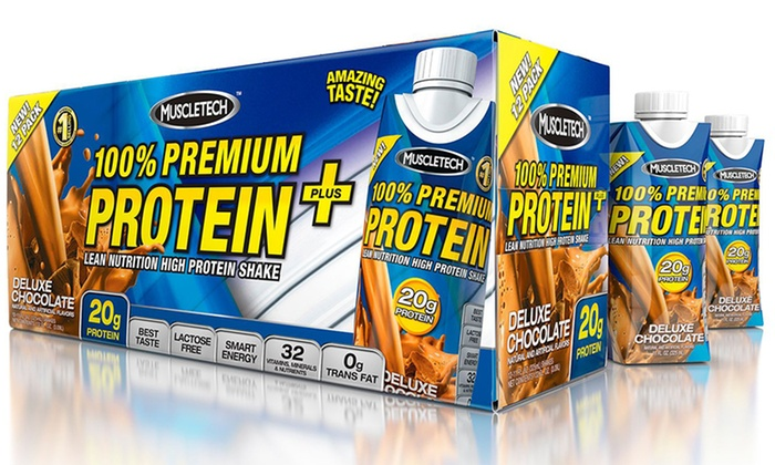 MuscleTech Ready to Drink Protein Shakes: 1 or 2 12-Packs of MuscleTech Ready to Drink Protein Shakes from $24.99–$39.99