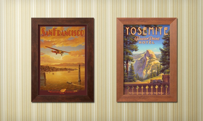 Framed Vintage Travel Prints: $39 for a Framed Vintage Travel Print ($81.65 List Price). 20 Options Available. Free Shipping and Returns.