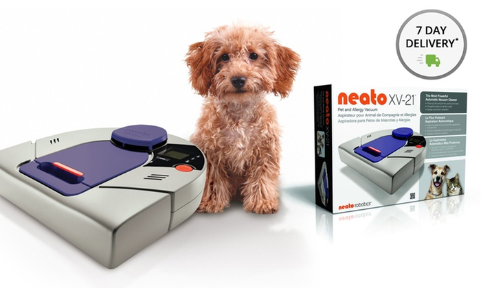 Neato XV-21 Pet and Allergy Robotic Vacuum Cleaner with Five Filters: Neato XV-21 Pet and Allergy Robotic Vacuum Cleaner with Extra Filters. Free Returns.