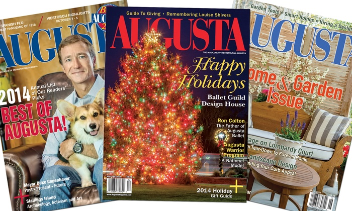 "Augusta Magazine: Two- or Three-Year Subscription to ""Augusta Magazine"" (Up to 51% Off)"