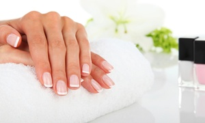 ViVi Salon & Spa: $25 for One Full Set of Gel Acrylic Nails with French Tip at ViVi Salon & Spa ($45 Value)