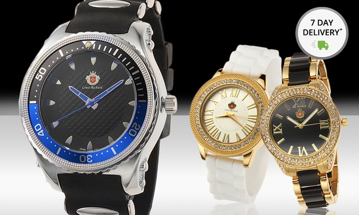 Louis Richard Men's or Women's Analog Watches: Louis Richard Men's or Women's Analog Watches. Multiple Styles from $29.99–$34.99. Free Returns.