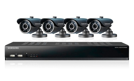 groupon daily deal - Samsung 4-Channel Security System with 500GB Hard Drive. Free Returns.