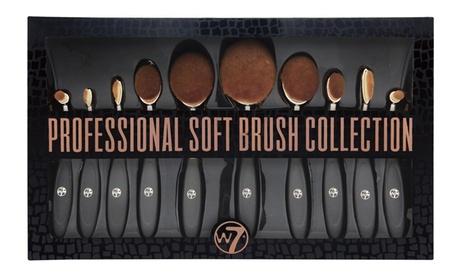 Set de 10 brochas ovaladas W7 Cosmetic
