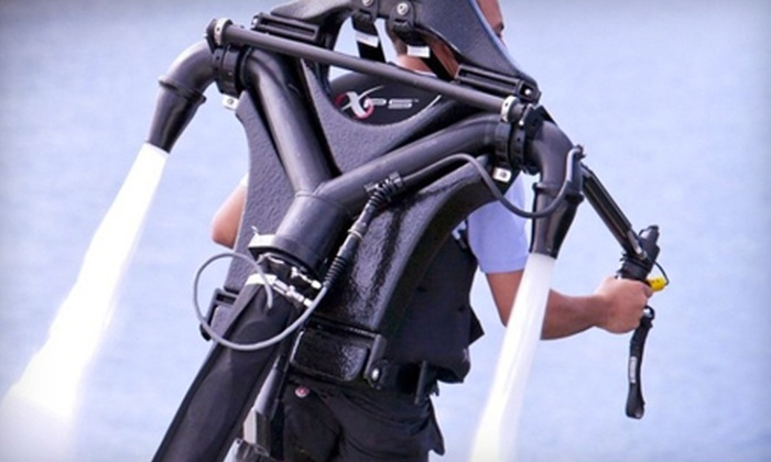 Captain CJ's Jetpack Adventures - Naples: $149 for a 30-Minute Water-Propelled-Jetpack Session at Captain CJ's Jetpack Adventures ($300 Value)