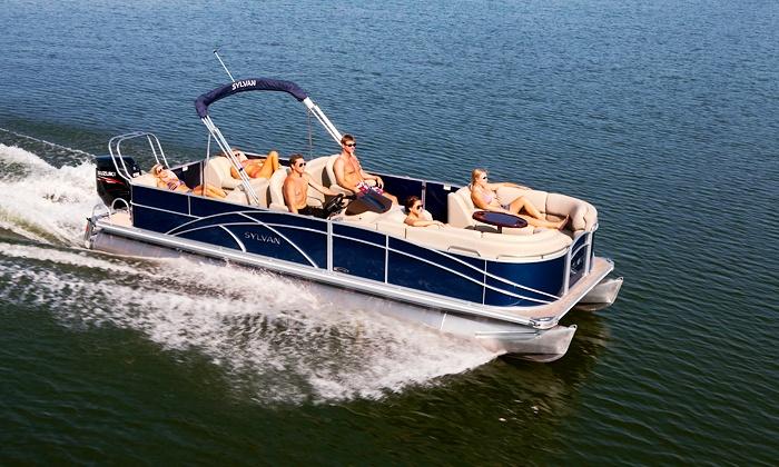 Scorpion Bay Marina - Peoria: $195 for Four-Hour Rental of 24-Foot Pontoon from Scorpion Bay Marina ($395 Value)