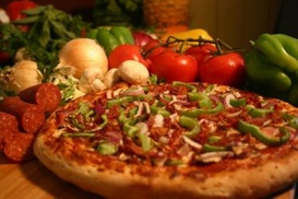 Lamppost Pizza in Orange: Pizza Dinner for Two or $11 for $22 Worth of Pizzeria Food at Lamppost Pizza