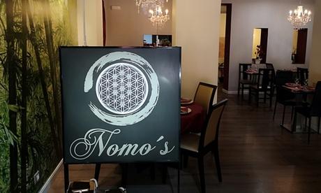 Menú fusión para 2 o 4 con entrante, principal, postre y botella de vino o bebida desde 24,95 € en Nomo's Restaurante